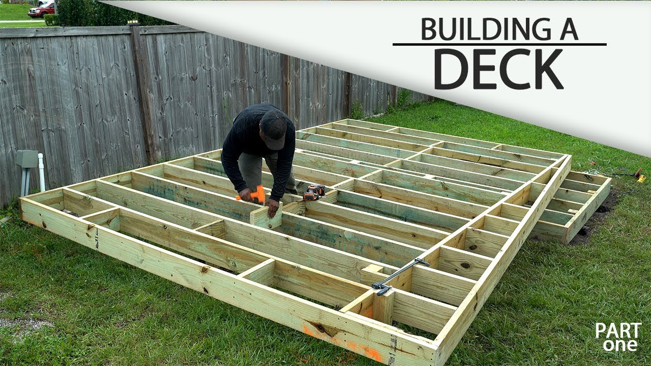 Building A Ground Level Deck Part 1