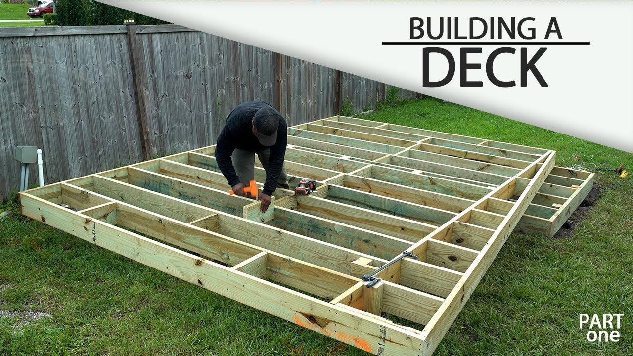 building a ground level deck part 1