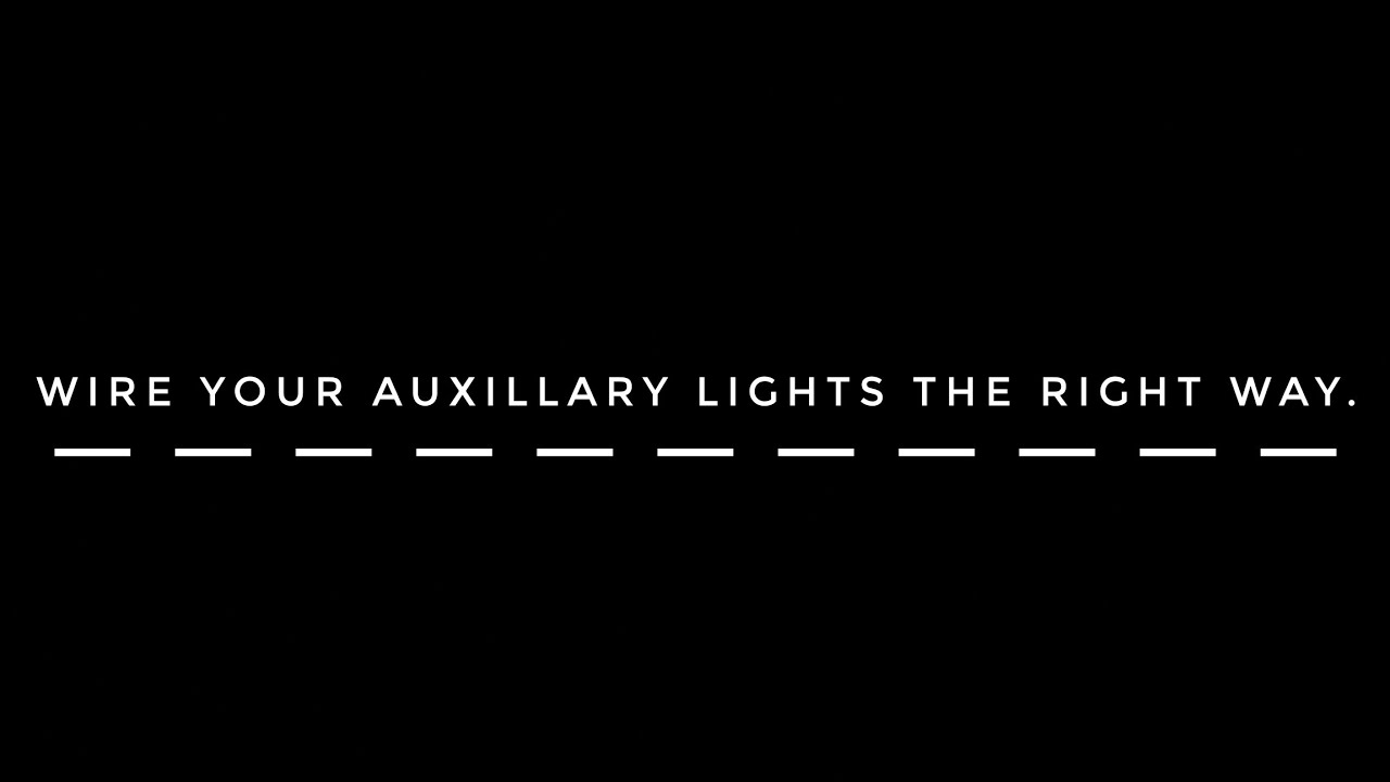 Wiring Your Auxiliary Lights The Right Way 4 Pin Relay How To Advantages