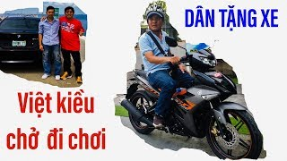 Hiệp sĩ Nguyễn Thanh Hải được dân tặng xe máy, được Việt Kiều dẫn đi chơi tại Mỹ II ĐỘC LẠ BÌNH DƯƠN