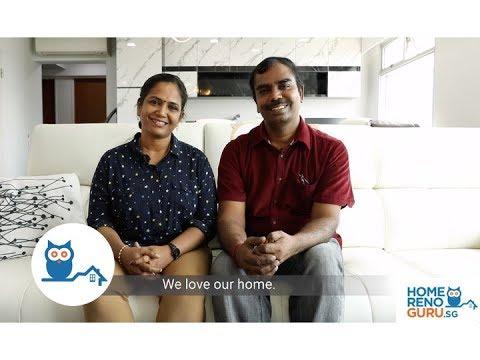 Dream Home Of Aravindan & Sumathi - Darwin Interior【HomeRenoGuru.sg】