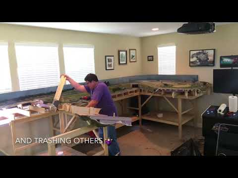 How to Make a Model Train Layout Disappear in Less than a Day