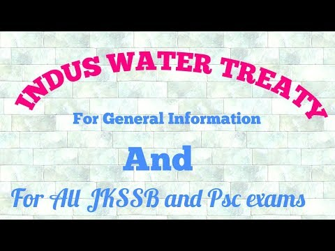 Indus water treaty.. II Explanation in Urdu/Hindi