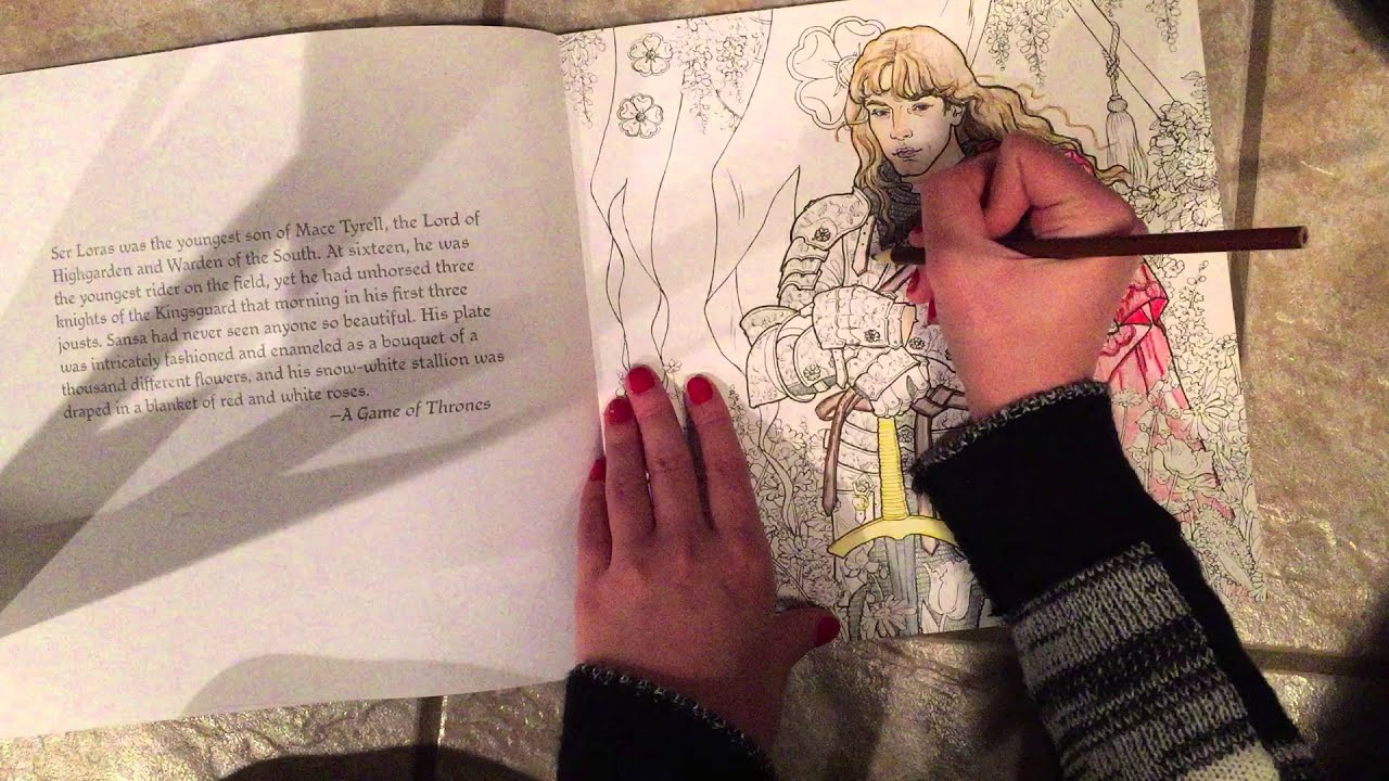 game of thrones adult colouring book asmr youtube - Game Of Thrones Coloring Book