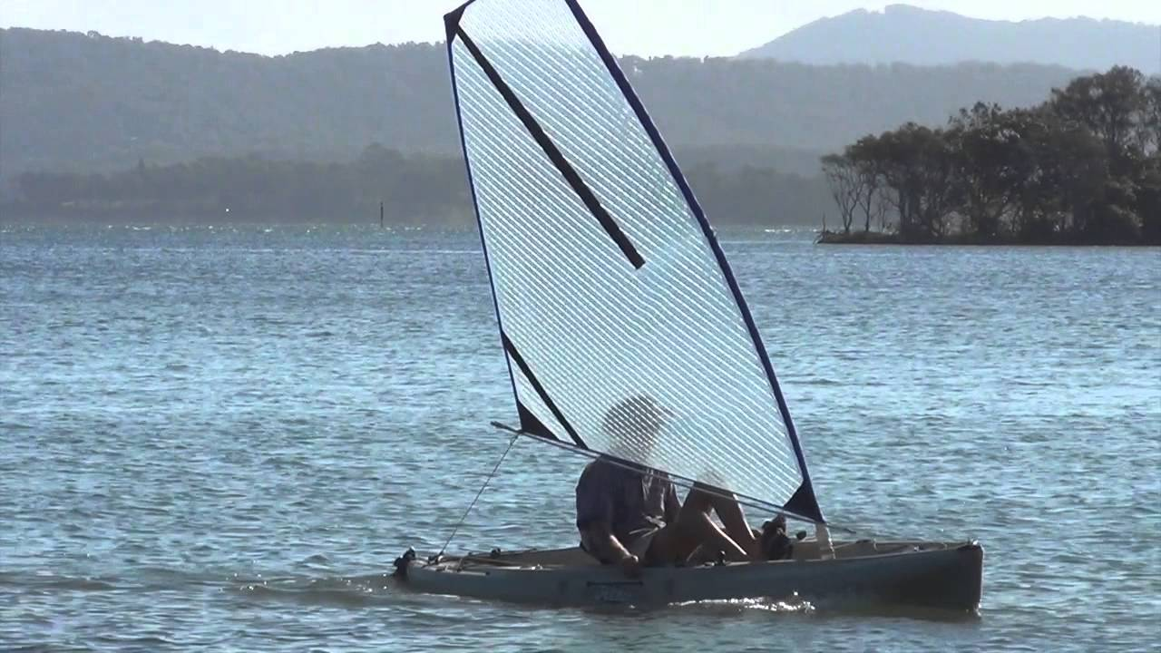 Star Kayak Sail Fitted To A Hobie Outback
