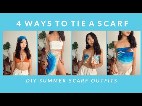 4 Ways to Tie a Scarf - DIY Scarf Tops & Skirt | JULIA SUH