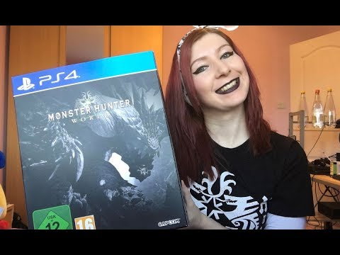 Monster Hunter World Collector's Edition PS4 UNBOXING VIDEO + Artbook flick through!