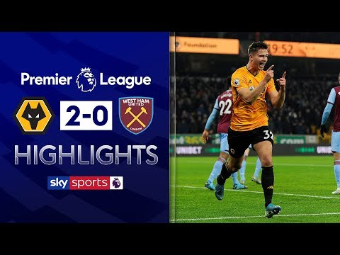 Wolves score two to sink West Ham | Wolves 2-0 West Ham | Premier League Highlights