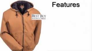 Men's Blended Duck Zip Front Hooded Jacket