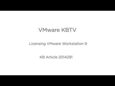 How to License VMware Workstation (2014291)
