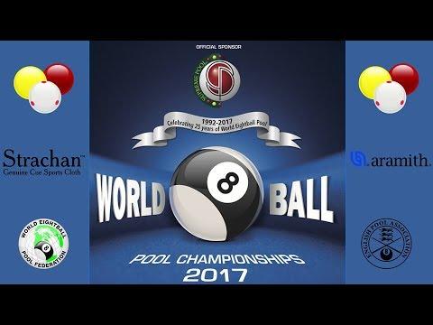 WEPF World 8 Ball Pool Championships 2017 - Mick Hill (ENG) vs John Chapman (ENG)