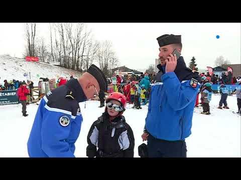 Métabief : quand les gendarmes patrouillent à ski
