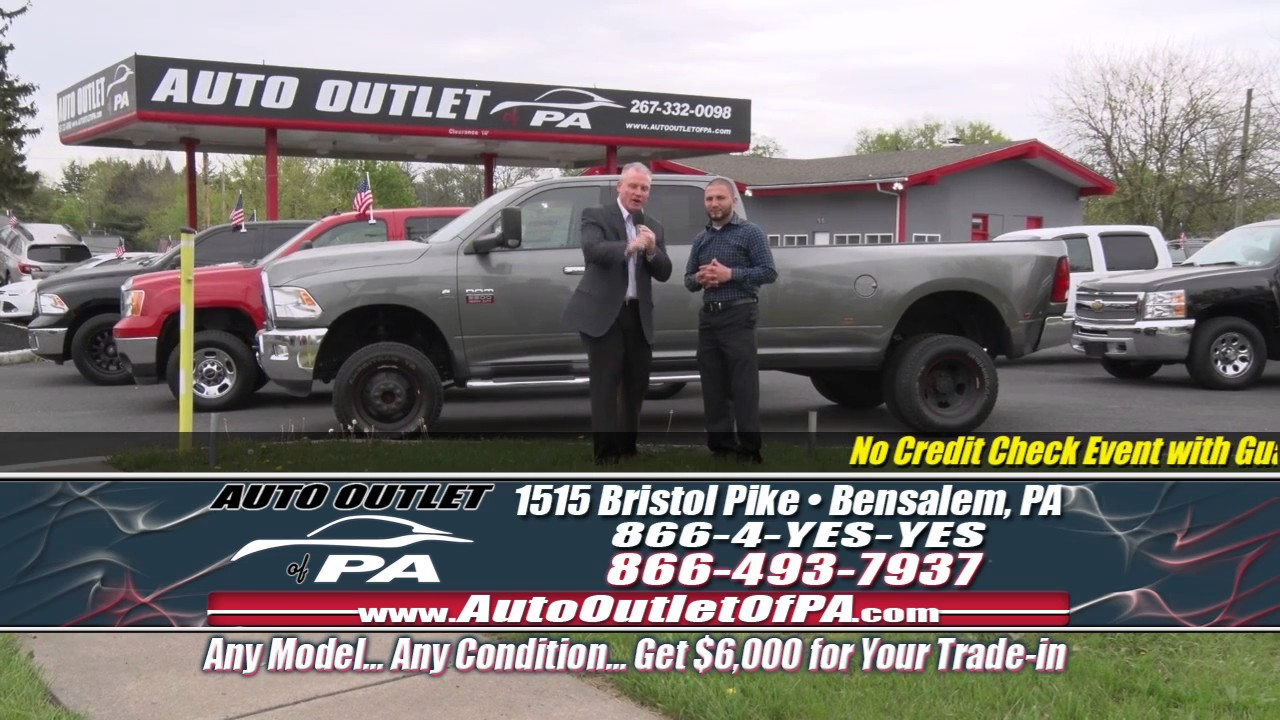 No Credit Check Car Lots >> No Credit Check Sales Event May 3rd 2017 Auto Outlet Of Pa Youtube