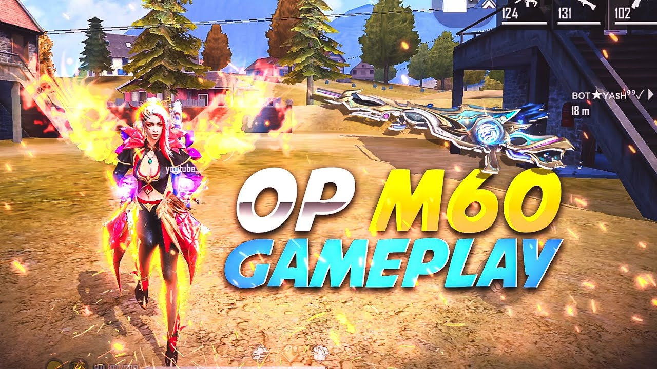 Vermilion Whirlwind Bundle Overpowered Gameplay With New M60 - Garena Free Fire