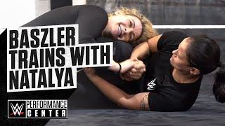 Shayna Baszler trains with WWE Superstar Natalya