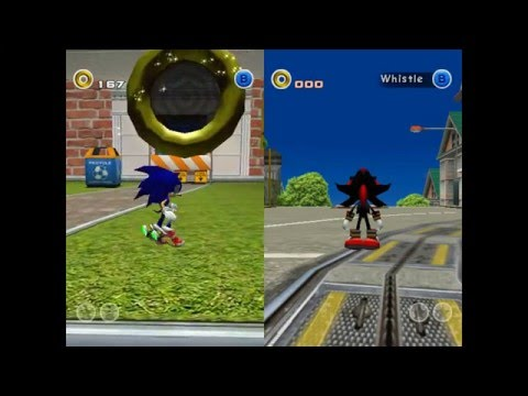 Unused 2P City Escape in Sonic Adventure 2 (Dreamcast)