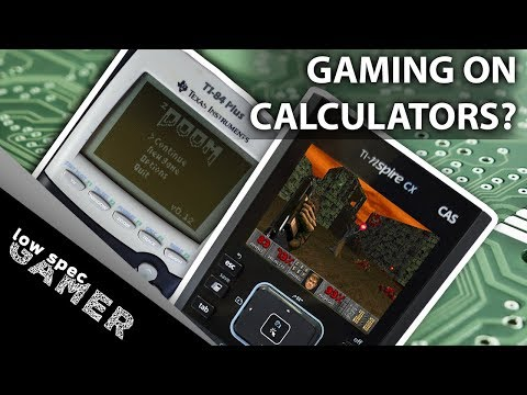 Can you game on a calculator? (Gaming on ti-84 Plus and ti-nspire cx. Doom + Fruit Ninja and more!)