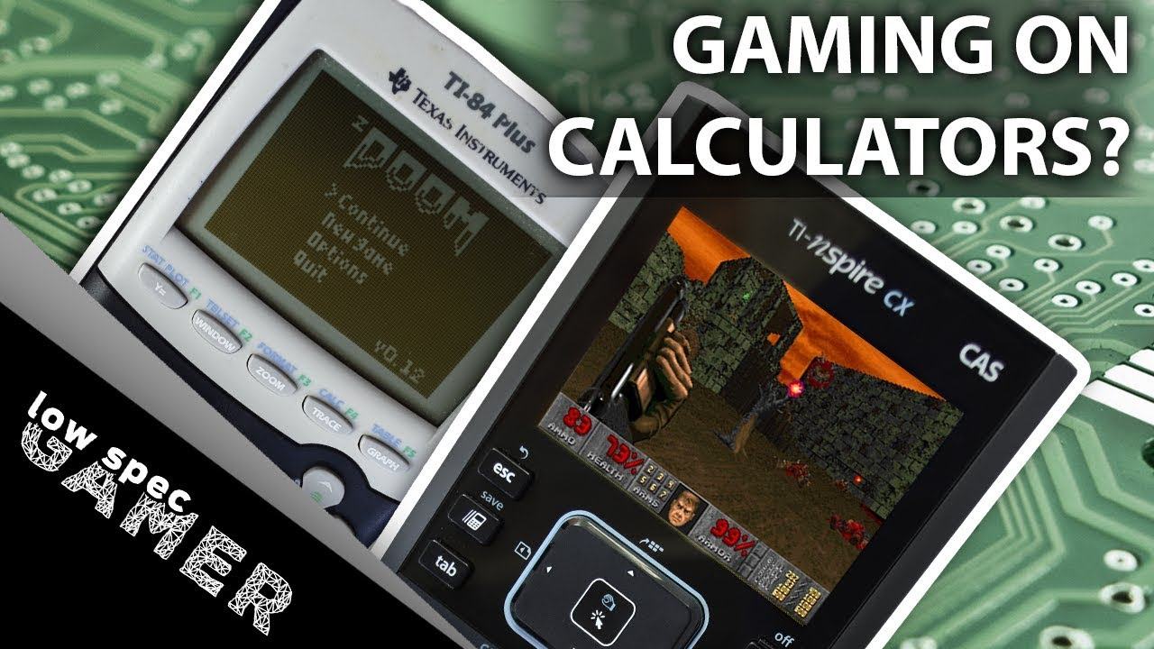 Can you game on a calculator? (Gaming on ti-84 Plus and ti-nspire cx  Doom  + Fruit Ninja and more!)