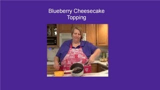 Blueberry Topping For Cheesecake, Ice Cream Or Cheese Pie
