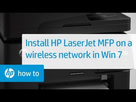 Installing an HP LaserJet MFP Printer on a Wireless Network in Windows 7 | HP LaserJet | HP