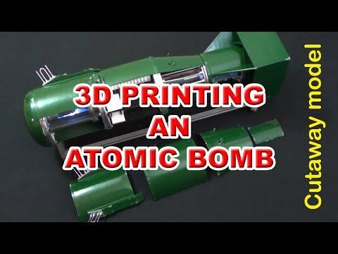 3D printed atomic bomb model