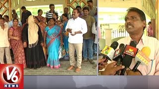 Warangal Irrigation Department Employees Protest Over Job Transfers | V6 News