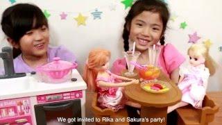 リカちゃん お水でぶくぶくお料理♪ABCクッキングスタジオ(English subtitles) thumbnail