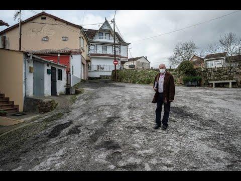 Quejas vecinales en el barrio de Peliquín, en Ourense.