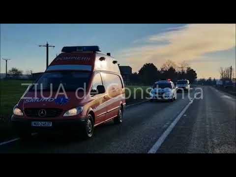 Accident rutier grav în apropiere de Crucea, județul Constanța. (1)