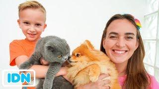 Vlad dan Mom bertukar hewan peliharaan kucing dan anjing