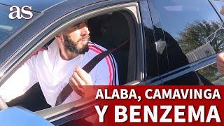 REAL MADRID | BENZEMA, ALABA y CAMAVINGA firman autógrafos en VALDEBEBAS | Diario AS