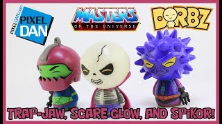 Funko Masters of the Universe Dorbz Scareglow SpikorTrap Jaw 3 Pack Figure Review