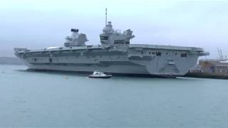 Visit to Portsmouth Dockyard to see the new carrier Queen Elizabeth