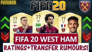 FIFA 20   WEST HAM PLAYER RATINGS!! FT. ANDERSON, HALLER, RICE ETC... (TRANSFER RUMOURS INCLUDED)
