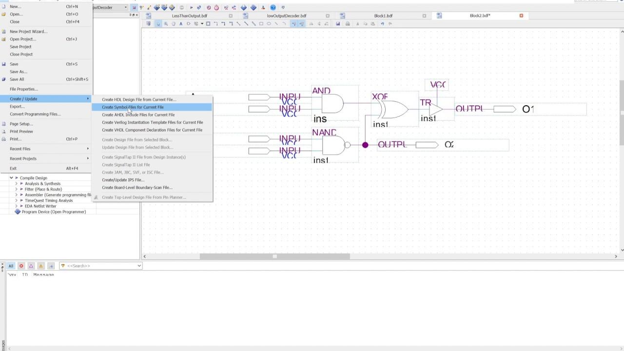 Creating Block  Symbol Files In Quartus Ii
