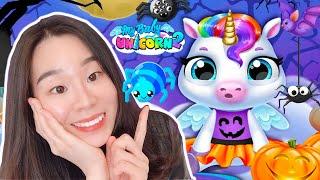 Halloween Fun in My Baby Unicorn 2 - Spooky Makeover & Pet Dress Up- Fun Newborn Pony Pet Care Games