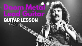 Doom Metal Lead Guitar Lesson - Learn to Solo with the Minor Pentatonic / Blues Scale