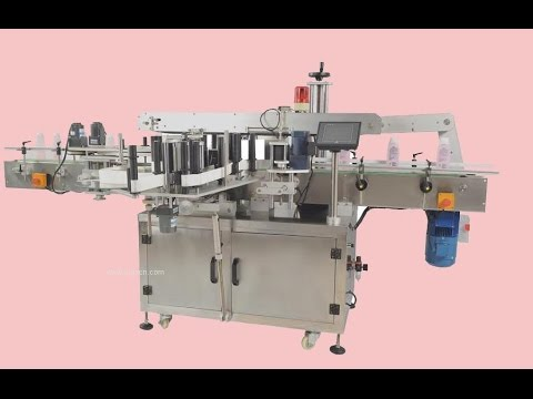 small plastic bags double sides labeling machine automatic labeler equipment non sticker labels