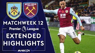 Burnley v. West Ham United | PREMIER LEAGUE HIGHLIGHTS | 11/09/19 | NBC Sports
