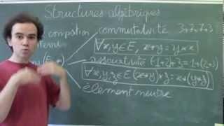 Structures algébriques 3 (Propriétés de l'opération)