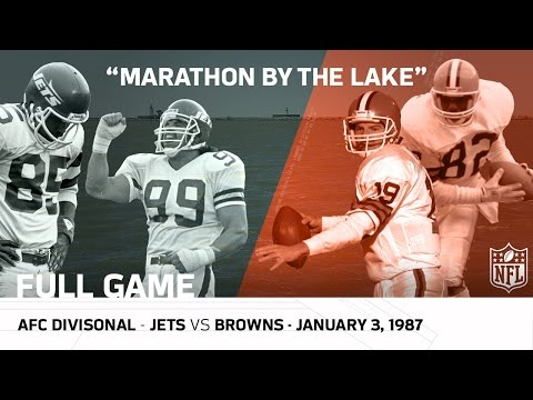 Jets vs. Browns | Marathon by the Lake | 1986 AFC Divisional Playoffs (FULL GAME) | NFL
