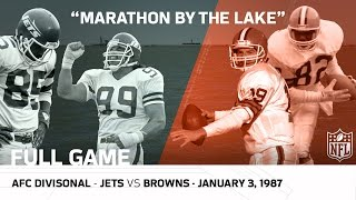 Jets vs. Browns | Marathon by the Lake | 1986 AFC Divisional Playoffs | NFL Full Game