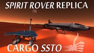 [Stock] Spirit Rover Replica To Duna With An SSTO - KSP
