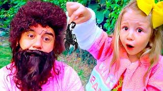 Kızlar için makyaj ve oyuncaklar hakkında Nastya komik hikaye