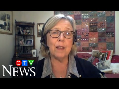 """""""We're in a global pandemic"""": Elizabeth May on why Greens sided with Liberals in confidence vote"""