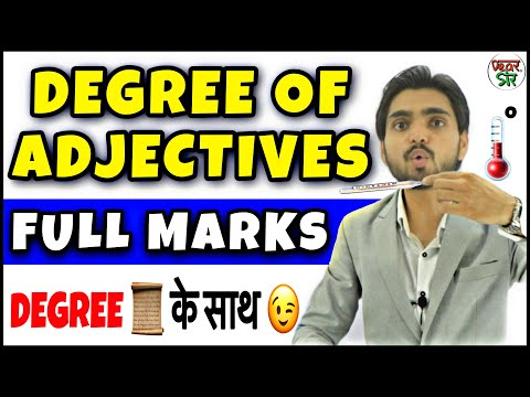 Degree Of Adjectives | Degree of Adjective Rules/Concept/Use | In Hindi | English Grammar/Spoken
