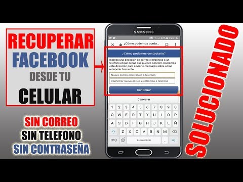 Como Recuperar tu Cuenta de Facebook  Sin Correo, Sin Teléfono y Sin Contraseña | DESDE TU CELULAR |