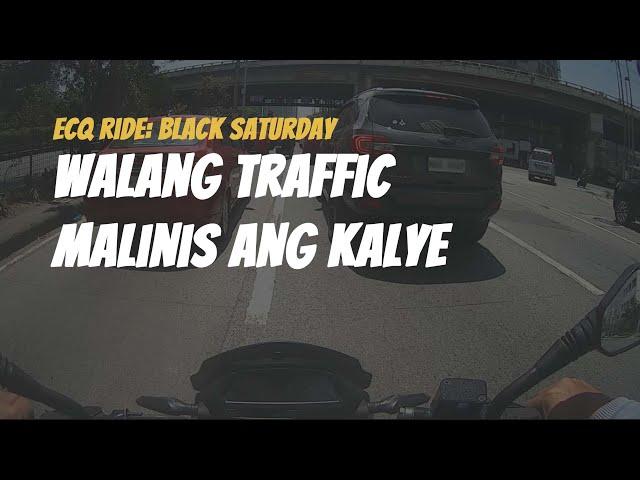 2021 ECQ Ride - Walang traffic! Black Saturday  (April 3, 2021) [Tagalog]