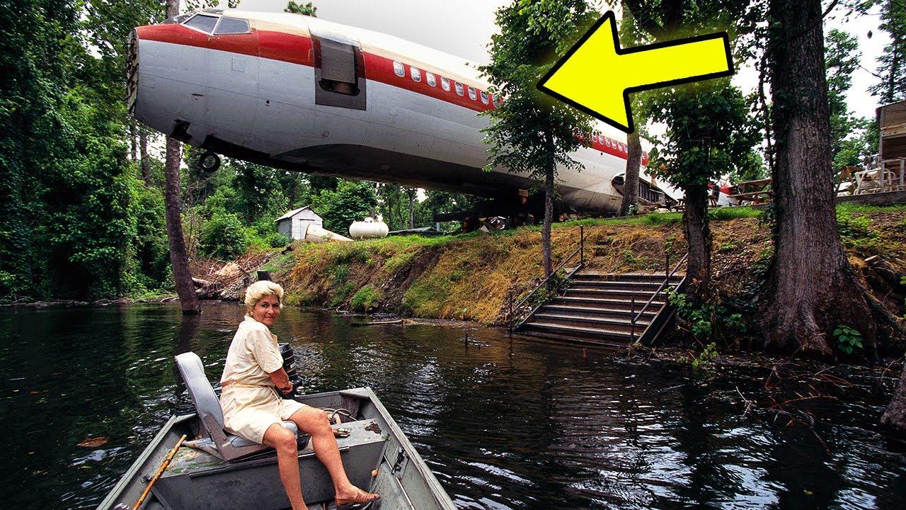 Uma Mulher Comprou um Avião Antigo Para Morar Nele. Uma Casa Incrível em um Avião.