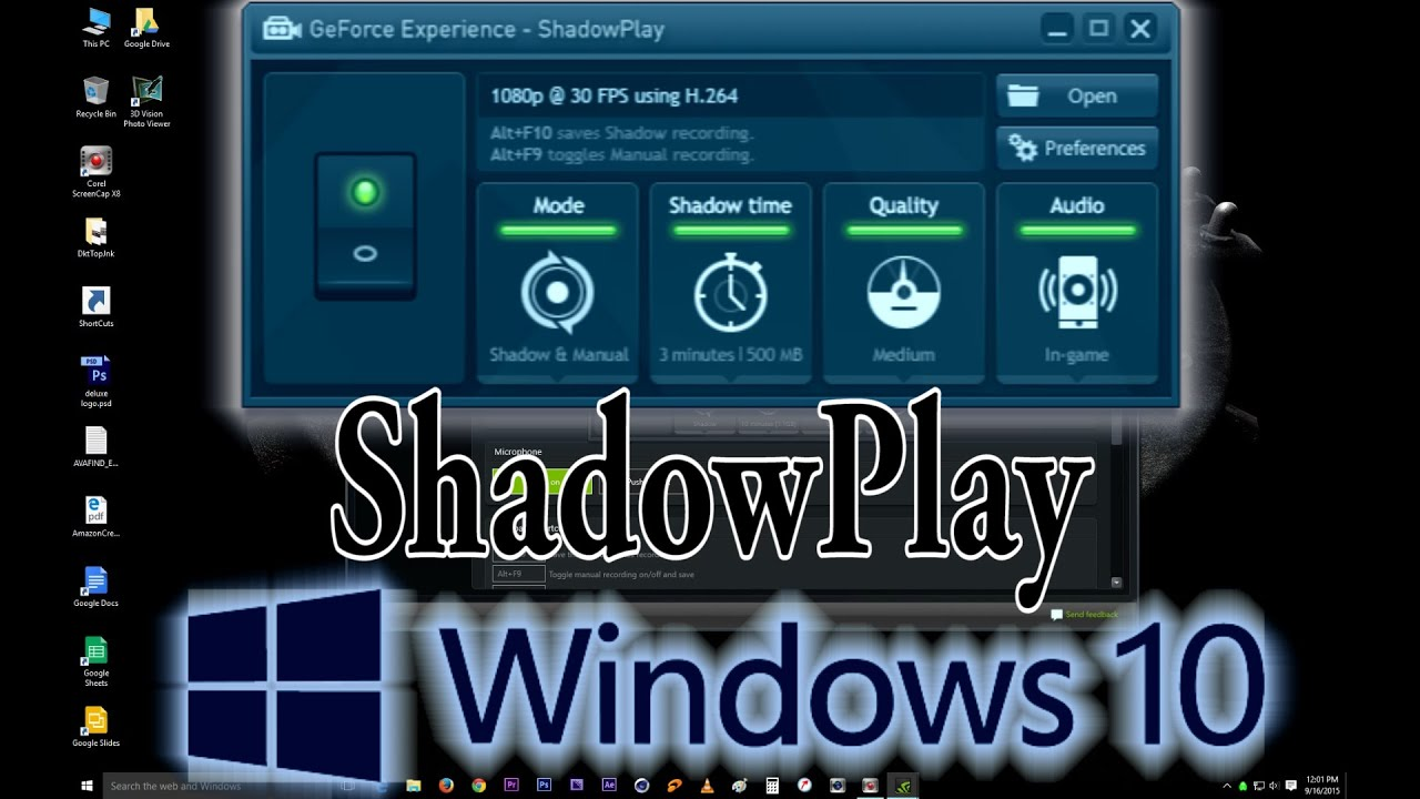 shadowplay windows 10